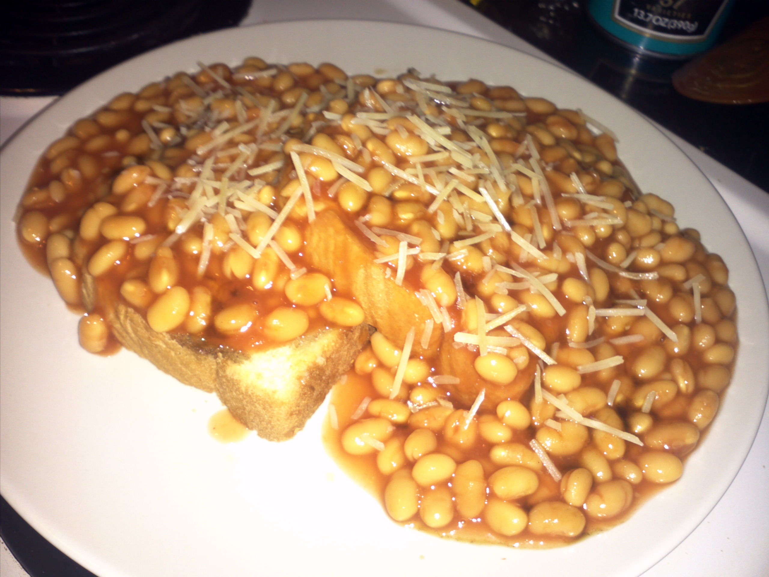 recipe: beans on toast with cheese [17]