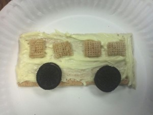 Graham Cracker School Bus
